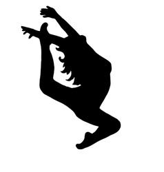 High quality original girl gymnastic doing jumps vector image