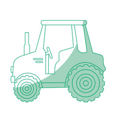 isolted cute shield tractor vector image