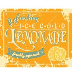 Lemonade vintage label vector