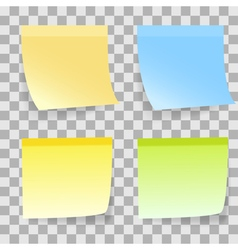 sticky note transparent vector image