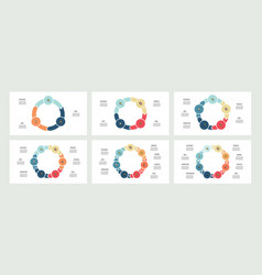 business infographics circles with 3 - 8 parts vector image