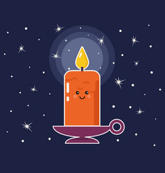 cartoon candle vector image vector image