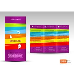 creative design brochure Tri-fold Layout Design vector image