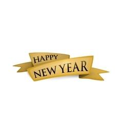 happy new year ribbon vector image