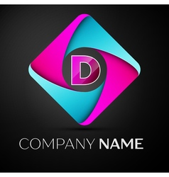 Letter d logo symbol in the colorful rhombus vector
