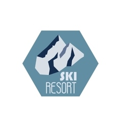 Mountain adventure and expedition logo badges vector image