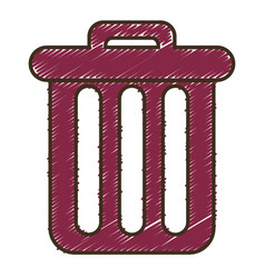 trash icon image vector image vector image