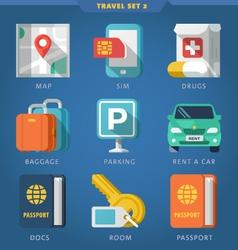 Travel icon set 2 vector image