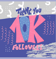 10k folowers thank you card vector