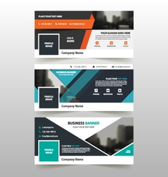Abstract triangle corporate business cover banner vector