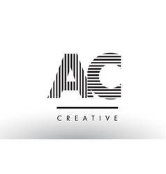 ac a c black and white lines letter logo design vector image