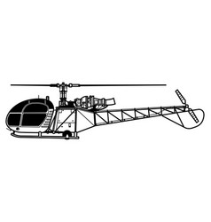 Aerospatiale alouette 2 sa 313 318 vector