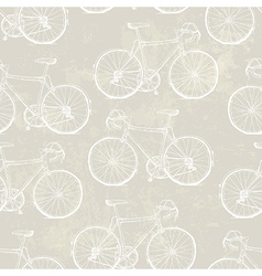 aged vintage bike pattern vector image
