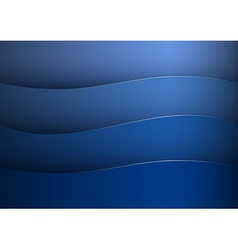 background blue stripe wave vector image