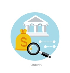 Bank office symbol vector image