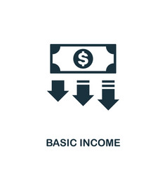 basic income icon creative element design from vector image