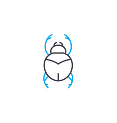 beetle linear icon concept beetle line vector image
