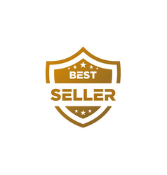 Best seller gold icon shield vector