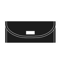 Black and white woman purse silhouette vector