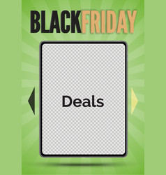 black friday sale banner for social media stories vector image