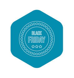 black friday sticker icon outline style vector image