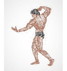 bodybuilder abstraction to pose vector image
