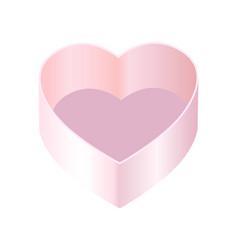 box heart shape poster vector image