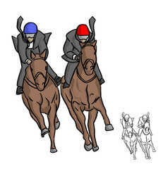 businessman on horse competition vector image