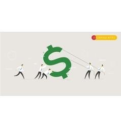 Businessmen raise rate vector image