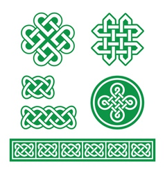 Celtic Irish patterns and braids St Patricks Day vector