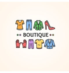 Clothing Shop or Boutique Concept vector