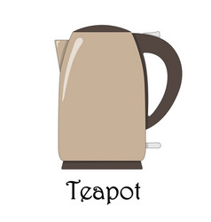 Color of the teapot vector