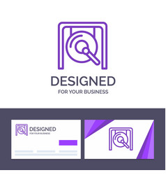 Creative business card and logo template gong vector
