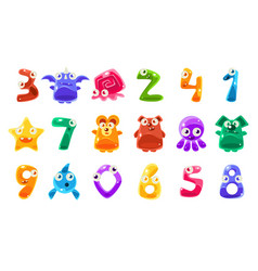 digit shaped animals and other jelly creatures set vector image