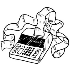 doodle taxes accounting vector image