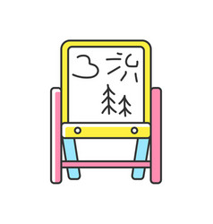 Drawing easel rgb color icon vector