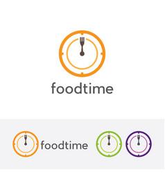 Eat time logo vector