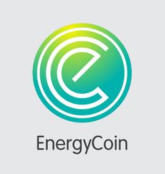 Energycoin digital currency enrg sign icon vector