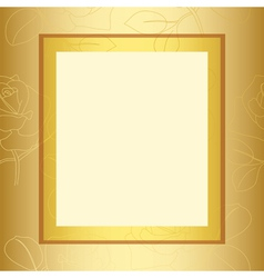 frame with gold floral pattern vector image
