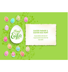 Green easter poster vector