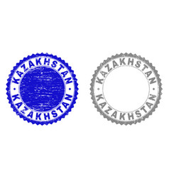 grunge kazakhstan textured stamp seals vector image