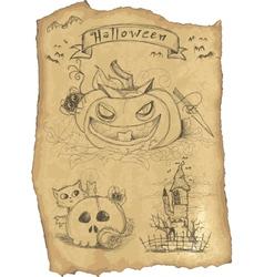 Halloween grunge icon set vector