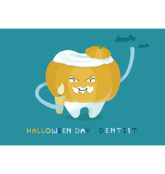 Halloweens day dentist vector image