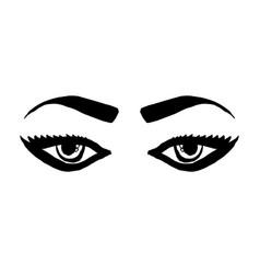 hand drawn woman eyes sketchy eyes icon grunge vector image