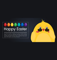 happy easter modern card in flat style vector image