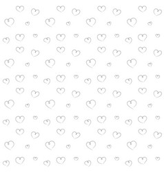 hearts backdrop seamless pattern vector image