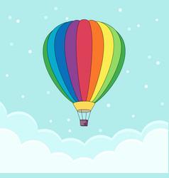 hot air balloon in sky vector image