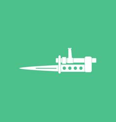 Icon knife bayonet on rifle vector