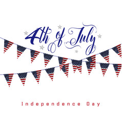 independence day 4 th july happy day vector image