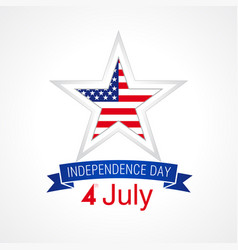 independence day usa star white vector image